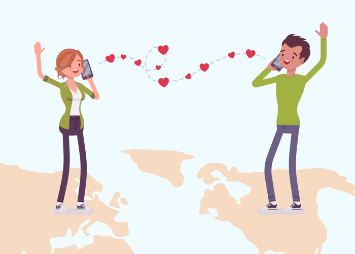What is a long-distance relationship